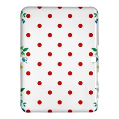 Flower Floral Polka Dot Orange Samsung Galaxy Tab 4 (10 1 ) Hardshell Case  by Mariart