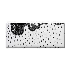 Batik Rain Black Flower Spot Cosmetic Storage Cases by Mariart
