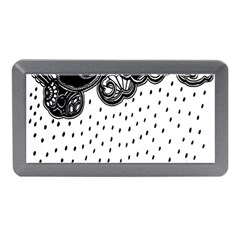 Batik Rain Black Flower Spot Memory Card Reader (mini) by Mariart