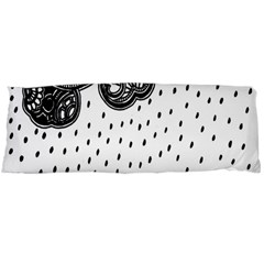 Batik Rain Black Flower Spot Body Pillow Case (dakimakura) by Mariart