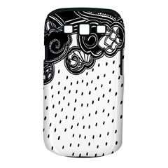 Batik Rain Black Flower Spot Samsung Galaxy S Iii Classic Hardshell Case (pc+silicone) by Mariart
