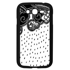 Batik Rain Black Flower Spot Samsung Galaxy Grand Duos I9082 Case (black) by Mariart
