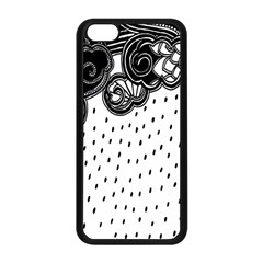 Batik Rain Black Flower Spot Apple Iphone 5c Seamless Case (black) by Mariart