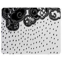 Batik Rain Black Flower Spot Jigsaw Puzzle Photo Stand (rectangular) by Mariart