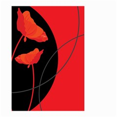 Flower Floral Red Black Sakura Line Small Garden Flag (two Sides) by Mariart