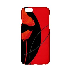 Flower Floral Red Black Sakura Line Apple Iphone 6/6s Hardshell Case by Mariart