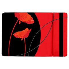 Flower Floral Red Black Sakura Line Ipad Air 2 Flip by Mariart