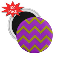 Zig Zags Pattern 2 25  Magnets (100 Pack)  by Valentinaart