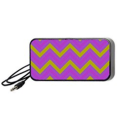 Zig Zags Pattern Portable Speaker (black) by Valentinaart