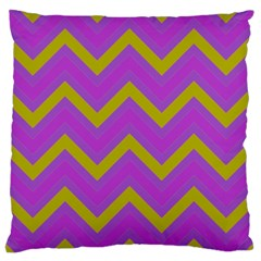 Zig Zags Pattern Standard Flano Cushion Case (one Side) by Valentinaart