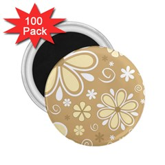 Flower Floral Star Sunflower Grey 2 25  Magnets (100 Pack)  by Mariart