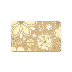 Flower Floral Star Sunflower Grey Magnet (name Card) by Mariart