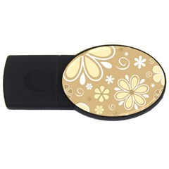 Flower Floral Star Sunflower Grey Usb Flash Drive Oval (2 Gb) by Mariart