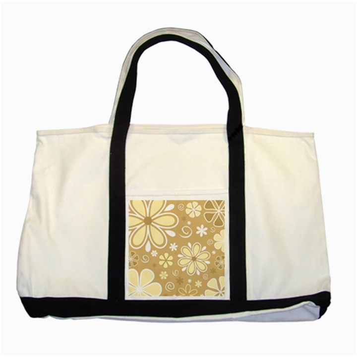 Flower Floral Star Sunflower Grey Two Tone Tote Bag