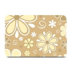 Flower Floral Star Sunflower Grey Plate Mats by Mariart