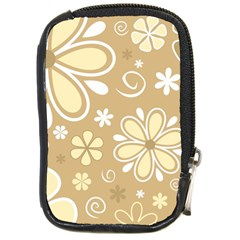 Flower Floral Star Sunflower Grey Compact Camera Cases by Mariart