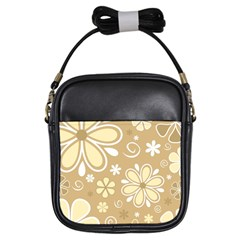 Flower Floral Star Sunflower Grey Girls Sling Bags by Mariart