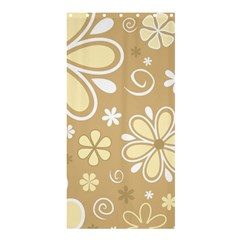 Flower Floral Star Sunflower Grey Shower Curtain 36  X 72  (stall)  by Mariart