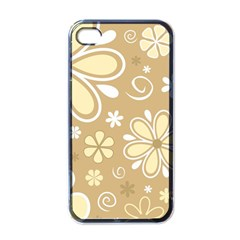 Flower Floral Star Sunflower Grey Apple Iphone 4 Case (black) by Mariart