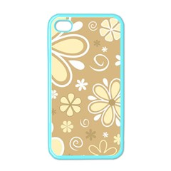 Flower Floral Star Sunflower Grey Apple Iphone 4 Case (color)