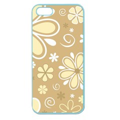 Flower Floral Star Sunflower Grey Apple Seamless Iphone 5 Case (color) by Mariart