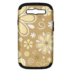 Flower Floral Star Sunflower Grey Samsung Galaxy S Iii Hardshell Case (pc+silicone) by Mariart