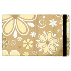Flower Floral Star Sunflower Grey Apple Ipad 3/4 Flip Case by Mariart