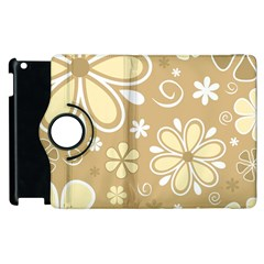 Flower Floral Star Sunflower Grey Apple Ipad 3/4 Flip 360 Case by Mariart