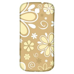 Flower Floral Star Sunflower Grey Samsung Galaxy S3 S Iii Classic Hardshell Back Case