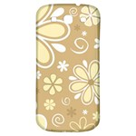 Flower Floral Star Sunflower Grey Samsung Galaxy S3 S III Classic Hardshell Back Case Front