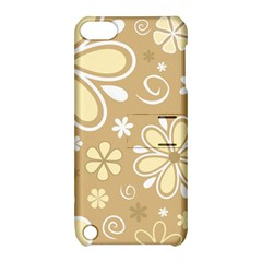 Flower Floral Star Sunflower Grey Apple Ipod Touch 5 Hardshell Case With Stand by Mariart