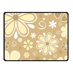 Flower Floral Star Sunflower Grey Double Sided Fleece Blanket (small)  by Mariart