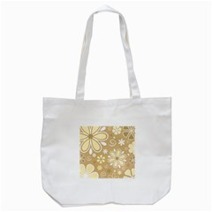 Flower Floral Star Sunflower Grey Tote Bag (white) by Mariart