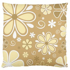 Flower Floral Star Sunflower Grey Standard Flano Cushion Case (one Side) by Mariart