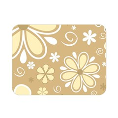 Flower Floral Star Sunflower Grey Double Sided Flano Blanket (mini)  by Mariart