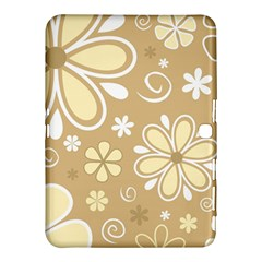 Flower Floral Star Sunflower Grey Samsung Galaxy Tab 4 (10 1 ) Hardshell Case  by Mariart