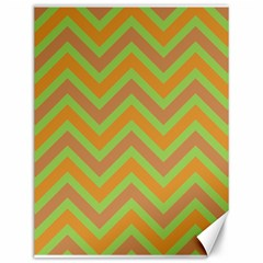 Zig Zags Pattern Canvas 12  X 16   by Valentinaart