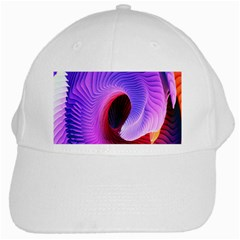 Digital Art Spirals Wave Waves Chevron Red Purple Blue Pink White Cap by Mariart