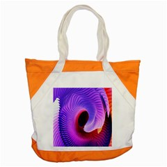 Digital Art Spirals Wave Waves Chevron Red Purple Blue Pink Accent Tote Bag by Mariart