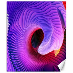 Digital Art Spirals Wave Waves Chevron Red Purple Blue Pink Canvas 20  X 24