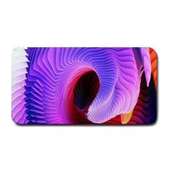 Digital Art Spirals Wave Waves Chevron Red Purple Blue Pink Medium Bar Mats by Mariart