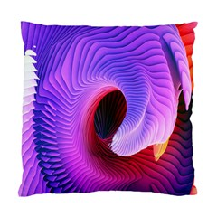 Digital Art Spirals Wave Waves Chevron Red Purple Blue Pink Standard Cushion Case (one Side) by Mariart