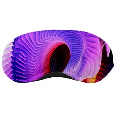 Digital Art Spirals Wave Waves Chevron Red Purple Blue Pink Sleeping Masks