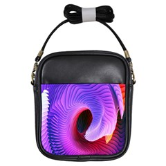 Digital Art Spirals Wave Waves Chevron Red Purple Blue Pink Girls Sling Bags by Mariart