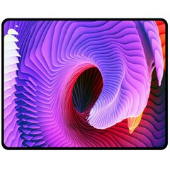 Digital Art Spirals Wave Waves Chevron Red Purple Blue Pink Fleece Blanket (medium)  by Mariart