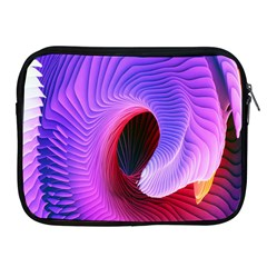 Digital Art Spirals Wave Waves Chevron Red Purple Blue Pink Apple Ipad 2/3/4 Zipper Cases by Mariart