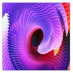 Digital Art Spirals Wave Waves Chevron Red Purple Blue Pink Large Satin Scarf (square)
