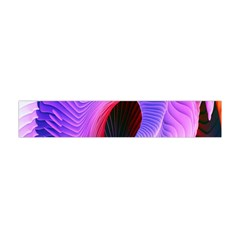 Digital Art Spirals Wave Waves Chevron Red Purple Blue Pink Flano Scarf (mini) by Mariart