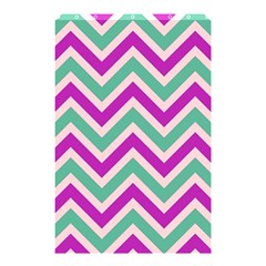 Zig Zags Pattern Shower Curtain 48  X 72  (small)  by Valentinaart
