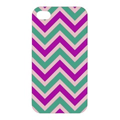 Zig Zags Pattern Apple Iphone 4/4s Hardshell Case by Valentinaart